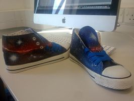Galaxy Custom Hi-tops by EternusNexxx