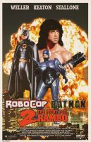 Batman / Robocop 2: The Hunt For Rambo by Hartter