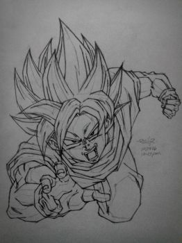 super saiyan god super saiyan gokou by reijr