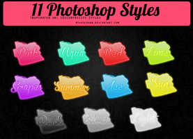 11 Photoshop Styles -  xEccentricity Inspired by MikuuChaan