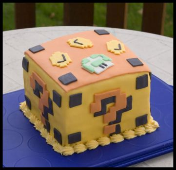 Mario Block Cake by theshaggyturtle