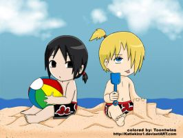 Beach Babies -- Collab by ToonTwins