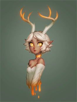 Deer (SPEEDPAINT ONLINE) by Saige199