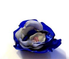 Sky - fabric flower bobbins by Quon-chan
