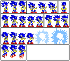 Archie Mecha Sonic Sprites by Kryptid