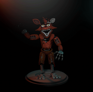 Withered Foxy (and unwithered foxy) 2.0!! by GaboCOart