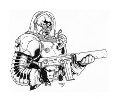 Mr. Freeze inks by JosephLSilver