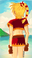 Under Cerulean Skies: Kid of Chrono Cross (Pixlrd) by Roxyielle