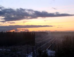 sunsets and railroads by bananizen