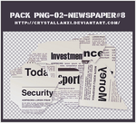 pack png-02-Pieces of newspaper#8 by Crystallanxi