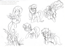 My Little Pony Free Sketches 2 by StePandy