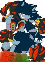 Shadow X Sonic the Werehog : 2 by Narcotize-Nagini