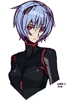 Rei Ayanami Sketch by Wicklesmack