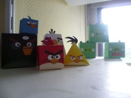 angry birds papercrafts by epikachu
