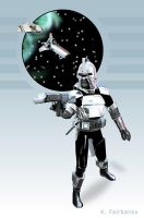 Cylon - vector art from 1970s TV BSG Show by eyeqandy