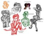Monster high Doodles by loud-thunder-2012