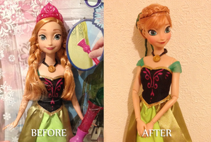 Coronation Anna OOAK doll by frozenblume