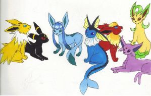 Eeveelutions 2 by Kainaa
