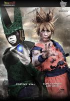 Battle Goku and perfect cell cosplay by jeffbedash325