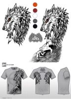Mythical Creatures T-Shirt Werewolf Design v1 by big-green-frog