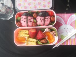 Ladybugs in my lunch. by Michi-Mii