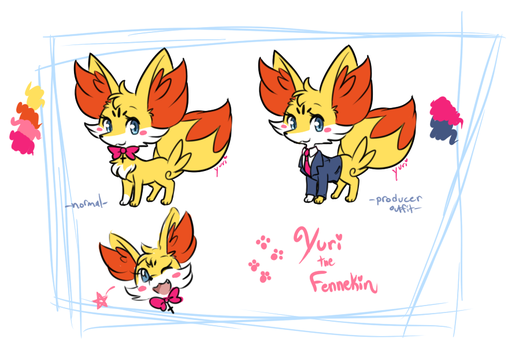Yuri the Fennekin Ref by FENNEKlNS