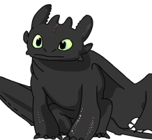 toothless the dragon by Ninjabirthdaycake