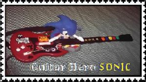 Guitar Hero Sonic stamp by elfofcourage