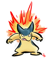 Angry Little Typhlosion by raizy