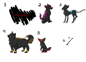 Glowing Adoptables :3 by SprayPaintHavoc