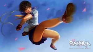 sakura street fighter IV fanart by REAL-ELMARIACHI