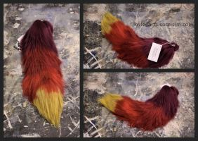 Fire Fox Yarn Tail by EvlonArts
