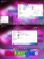 Theme StarLoveGlass win 7 by starkiphy
