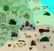 The Six Clans MAP by BizTheWolfLover
