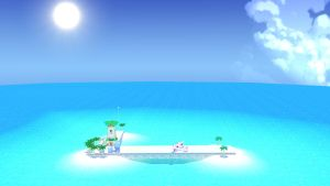 Super Mario Sunshine Airstrip by piranhaplant1