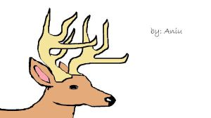 my drawing of a deer by skatergirl12