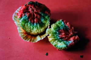 Rainbow muffin by LisaBellaCullen
