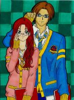 Leon And Claire School Style by LeonandClaireBSAA