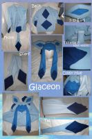Glaceon hoodie with scarf by Gijinkacosplay