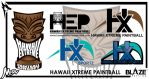 Hawaii Extreme Paintball proposed logo samples by BlazeDesignCo