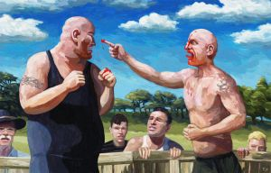 Bare Knuckle Brawl (revised) by Art-of-Eric-Wayne