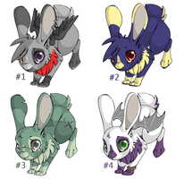 Le Bunny Adopts CHEAP~ OPEN (3 left) by TheWacko4u