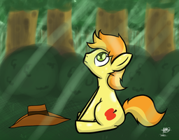 An Apple in the Forest by Mister-Markers