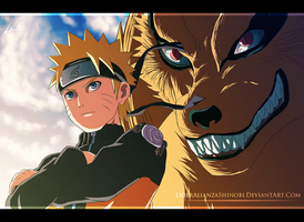 Naruto and Kurama by LiderAlianzaShinobi
