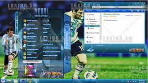 Theme Windows 7: MESSI by ToxicoSM