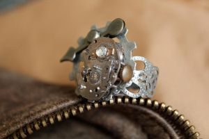 Steampunk Ring by medievalfaery