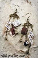 Book Earrings by SpankTB