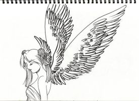 Winged Lady by SylphinaEdenhart
