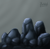 Rock painting by Ouivon