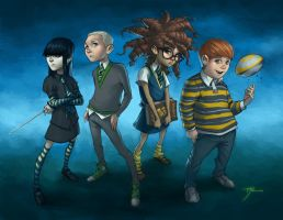 Commish: My Hogwarts Students by sghoul